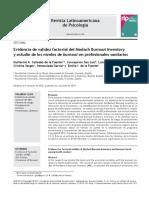 Evidencia de Validez Factorial Del Maslach Burnout Inventory