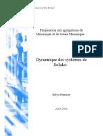 Dynamique Des Systemes de Solides