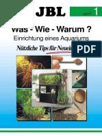 Aquaristik - Anfänger JBL Aqariumeinrichtung