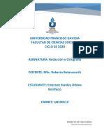 HOJA DE TRABAJO 1 Diptongo Hiato y acentuación especial (2)