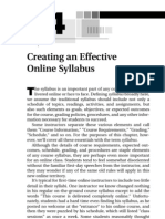 creating an effective online syllabus