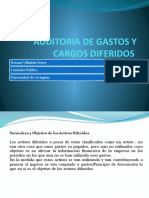 Auditoria de Gastos y Cargos Diferidos