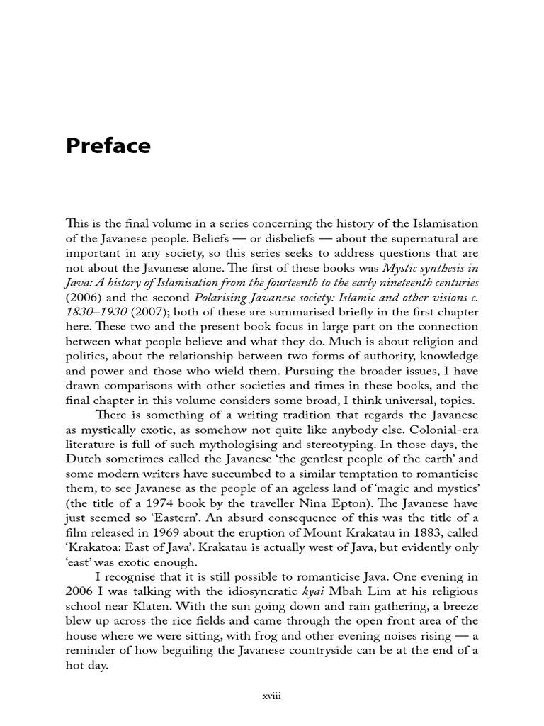 29 Preface   PDF   Java   Sufism