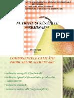 Seminar Nutritie Si Sanatate