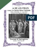 Septuagésima. Guía de los fieles para la santa misa cantada. Kyrial Orbis Factor