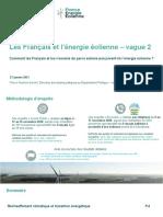 Enquête Harris - Les Français et l'énergie éolienne - Vague 2 (France Energie Eolienne)