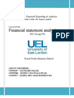 Financial Statement Analysis of BG Group Plc.