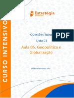 Lista 01 - Geopolítica
