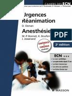 ECN Urgences Reanimation Anesthesie