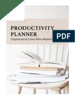 Productivity Planner 2021