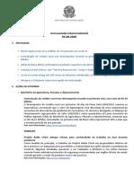 Comunicado Interministerial - 05082020