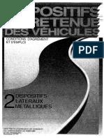 Dispositifs de Retenue Des Véhicules 2 - Dispositifs Latéraux Métalliques (Mai 1988)