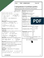 Equations Et Inequations Du 1er Degre Exercices Non Corriges 1