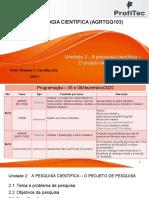 Slides de Conteúdo - Unidade 2 - Metodologia Científica-2