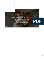 Napoléon l'Innovateur en Jurisprudene