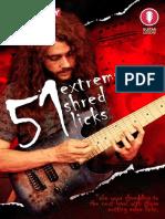 51 Extreme Shred Licks Tab Book