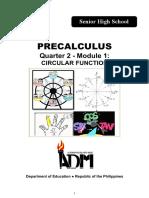 Precalculus G11 Q2 M1 Circular-Functions