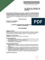 ANTEPROYECTO DE LEY MARCO DE CREACIÓN DEL SISTEMA INTEGRADO UNIVERSAL DE PENSIONES 25.01