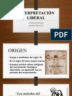 INTERPRETACIÓN LIBERAL