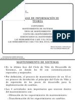 Teoría PS6117 Mantenimiento y Herramientas CASE