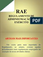 Instrução RAE - CH QAO Power Point
