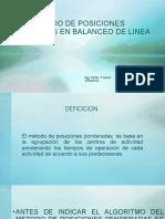 METODO DE POSICIONES PONDERADAS EN EL BALANCEO DE LINEA 2020-II