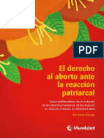 Derecho al aborto ante reaccion patriarcal