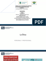 ETICA PERSONAL Y PROSEFIONAL