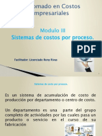Presentación modulo Costo por proceso