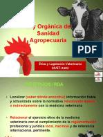 Ley Orgánica de Sanidad Agropecuaria