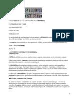clasificación de la empresa