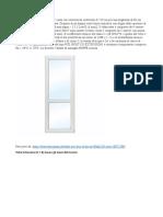 French window data sheet