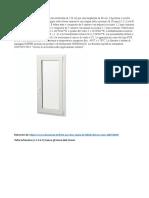 Windows data sheet