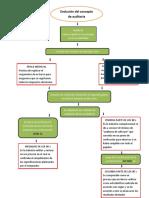 Mapa Conceptual Evolucion de Concepto de Auditoria