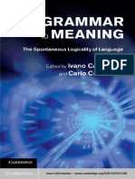 From Grammar to Meaning - The Spontaneous Logicality of Language