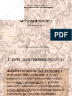 Archeoastronomia Storia e Tecnica