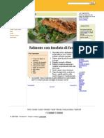 Salmone con insalata di fave