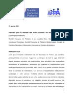 Position de La SFP AFPA 25 Janvier 2021