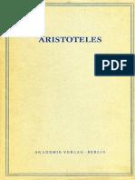 Aristoteles - Band 1. Teil I. Kategorien.(Berlin,1984)
