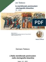 L'Italia Meridionale Peninsulare Nella Storiografia Bizantina