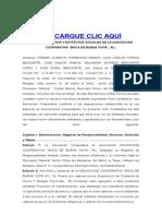 Acta Constitutiva Cooperativa Pesquera Buena Vista Ajustada
