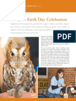 Earth Day Adelphi CAS artscinews_fall2009