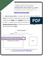 Consejo Comunal Carta de Postulacion