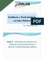 Auditoria e Controladoria - Aula 1