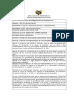 JURISPRUDENCIA EN CONTRA DEL MINISTERIO DEL TRANSPORTE