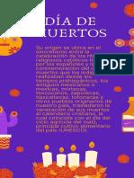 Calaveritas Del Altar de Muertos Con Ilustraciones Conmemorativas Con Naranja y Amarillo Con Fondo Morado Historia de Instagram