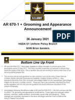 AR 670 1 Grooming and Appearance Brief
