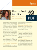 How to Break into Film Adelphi CAS artscinews_fall2008