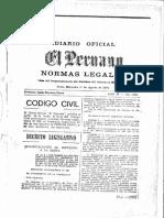 I PARTE - CÓDIGO CIVIL de 1984 (original) - DECRETO LEGISLATIVO No. 295 - versión del diario oficial el Peruano.