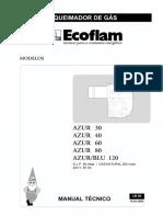Queimador AZUR-BLU 120, Ecoflam